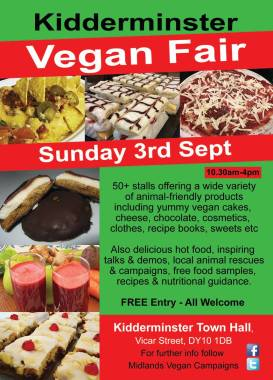 03.09.2017 Kidderminster Vegan Fair