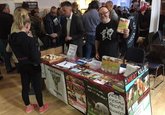 03.09.2017 Stall at Kidderminster Vegan Fair