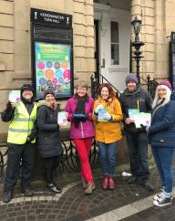07.02.2018 Greener Living Fair leafleting