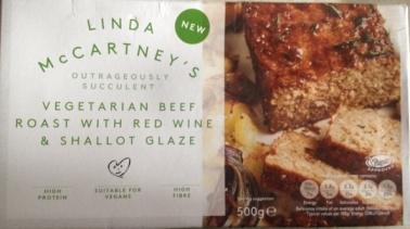 Linda McCartney's Vegetarian Beef Roast with Red Wine & Shallot Glaze