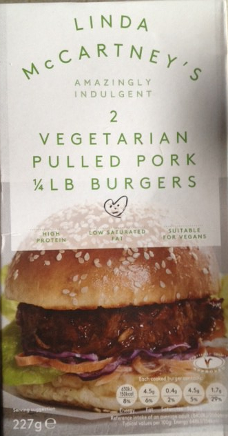 Linda McCartney's Vegetarian Pulled Pork 1/4lb Burgers